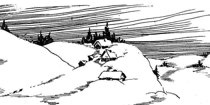 Теремок под снегом.