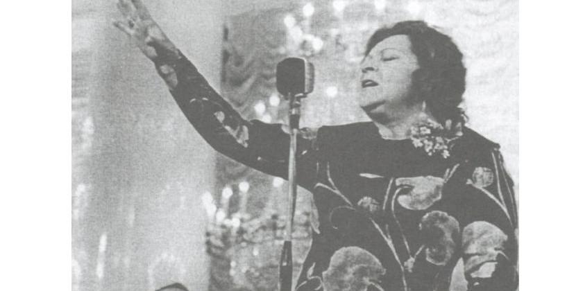 С Клавдией Шульженко на фирме Мелодия