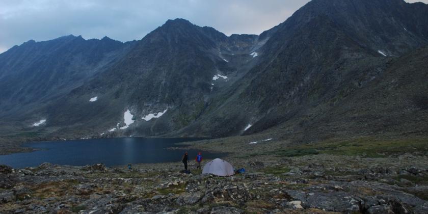 лагерь под пиком Уральский следопыт