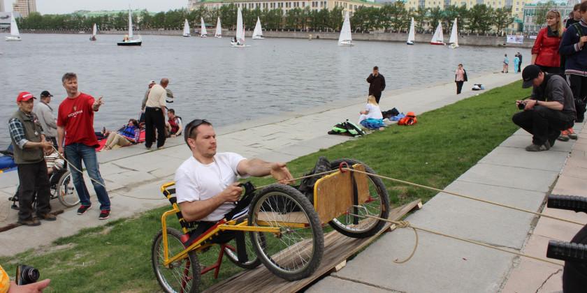 состязания инвалидов-спинальников на Майском экстриме
