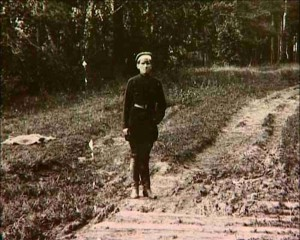 Ермаков у мостика из шпал. 1924 г.