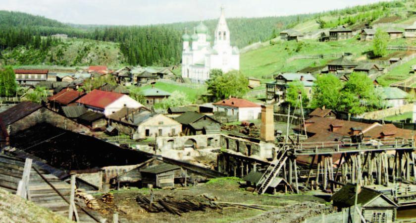История России. Река Чусовая. Село Кын.