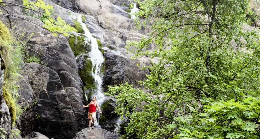 Изумрудные россыпи водопада Гадельша