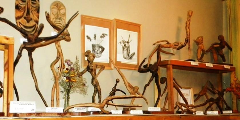 Скульптуры из кореньев