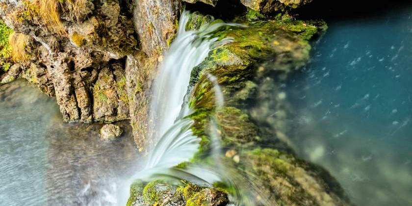 За несколько шагов до водопада
