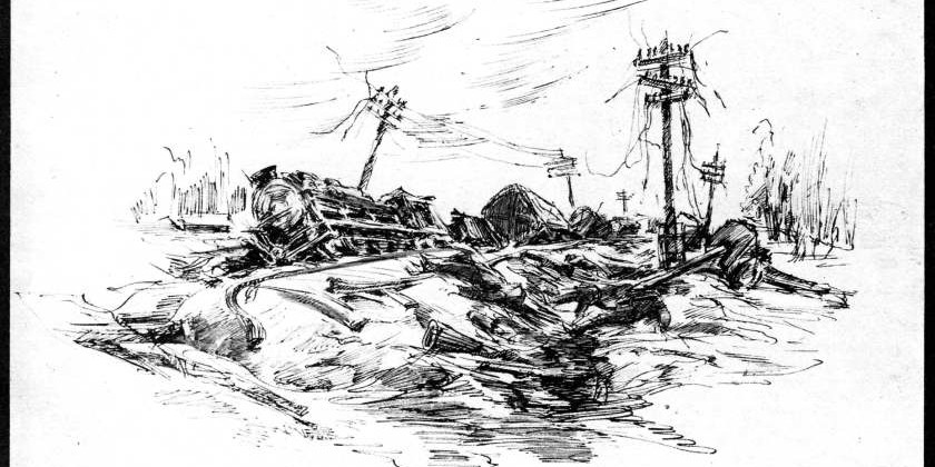 Фронтовой рисунок уральцев
