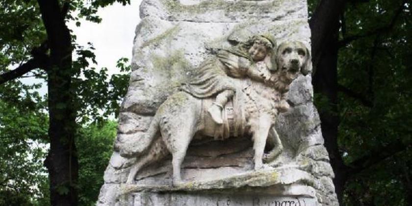 Памятник собаке, лебедю, пчеле