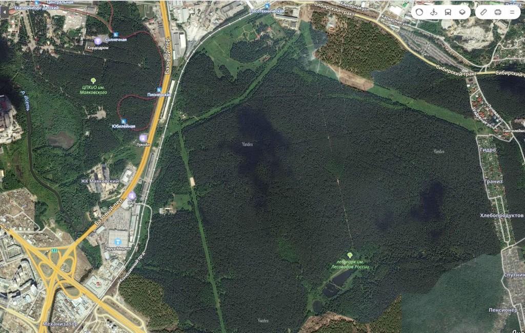 карта парка Лесоводов России