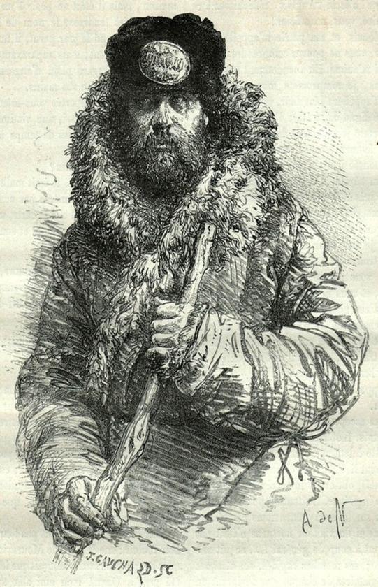 Вокзальный грузчик. Пермская губерния, конец 19 века